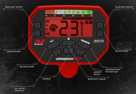 Minelab Vanquish 540 Pro Package with Free Pro Find pinpointer!