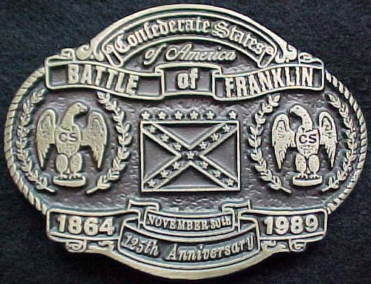 Battle of Franklin Belt Plate Limited Edition
