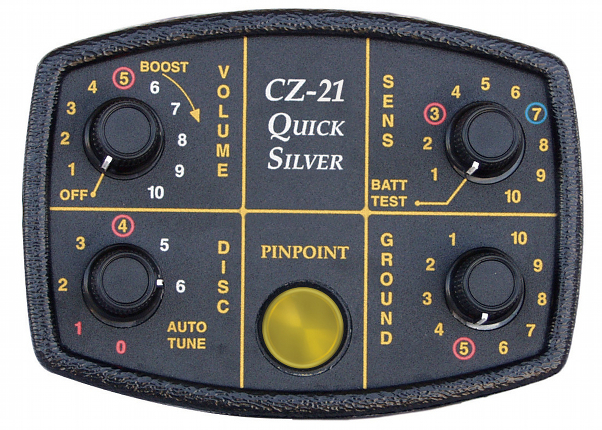 "CZ-21 Quick Silver Detector with 8"" coil - Click Image to Close"